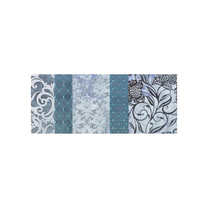 Текстура плитки Shine Turchese Batik A 24x59 - 2