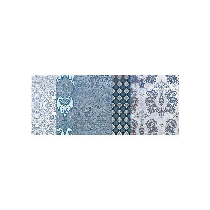 Текстура плитки Shine Turchese Batik C 24x59 - 2