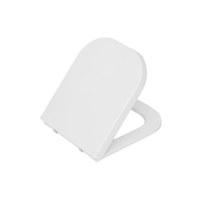 Фото сантехники Retro Сиденье для унитаза дюропласт, цвет белый, мет.петли