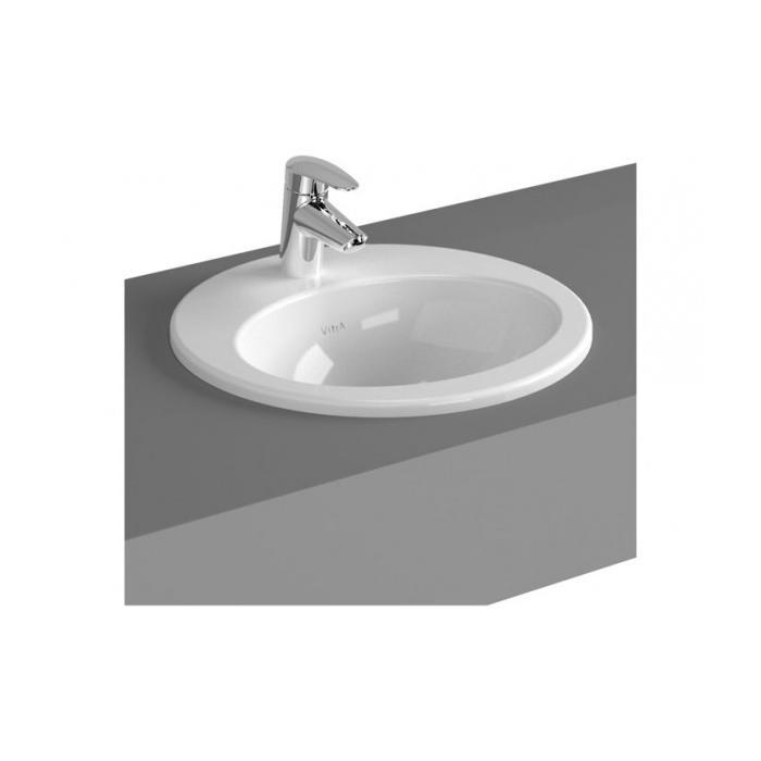 Фото сантехники S20 Раковина 43 см. круглая накладная, цвет белый