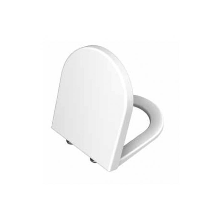 Фото сантехники S50 Сиденье для унитаза дюропласт, металические петли, цвет белый
