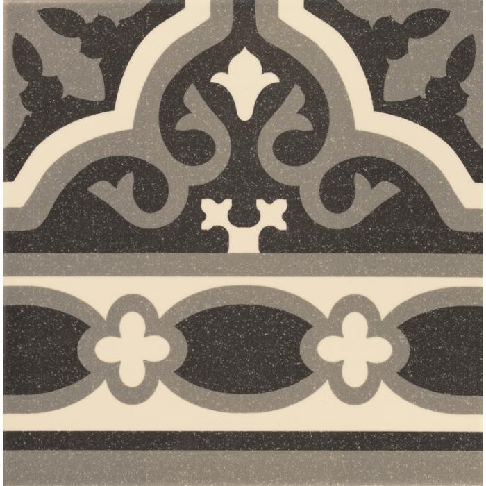 Текстура плитки Cenefa Florentine Black 20x20