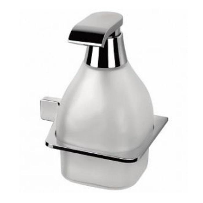 Фото сантехники Alize Сосуд для жидкого мыла  подвесной,  хром/стекло