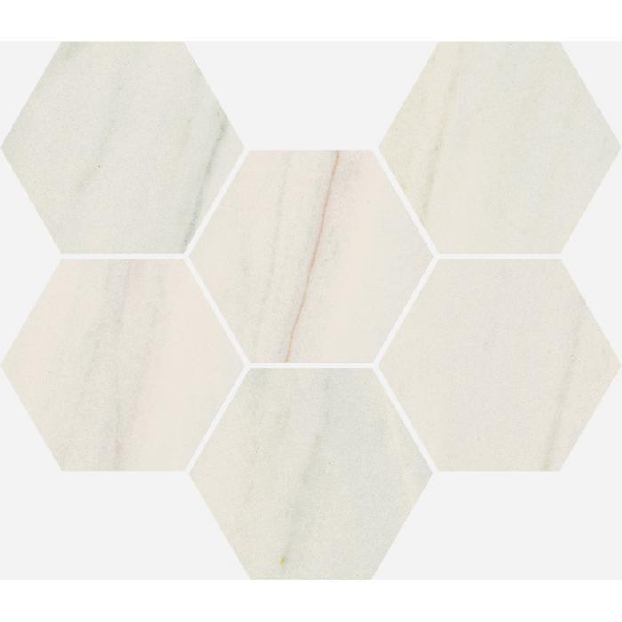 Текстура плитки Шарм Экстра Лаза Мозаика Гексагон Пат. 25x29 (0,050м2/шт)