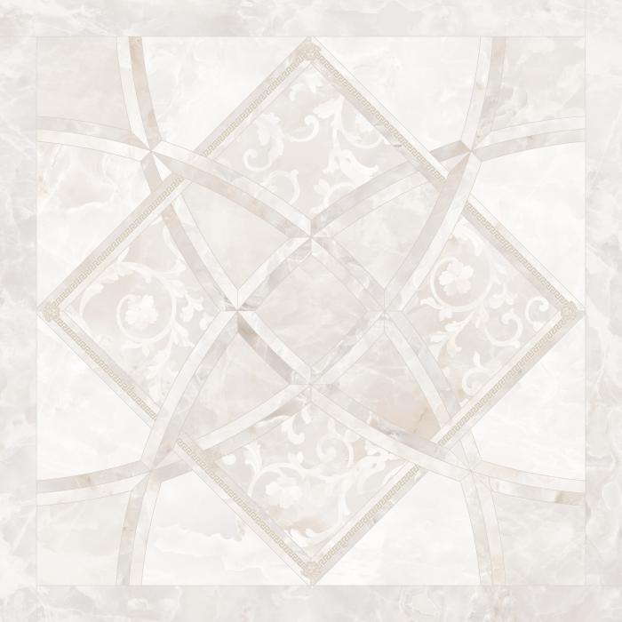 Текстура плитки Emote Intarsio Onice Bianco 78x78