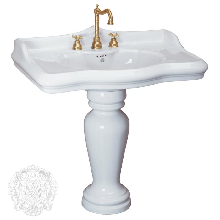 Фото сантехники Impero Раковина тюльпана, 90 см, 1 отв., белая керамика