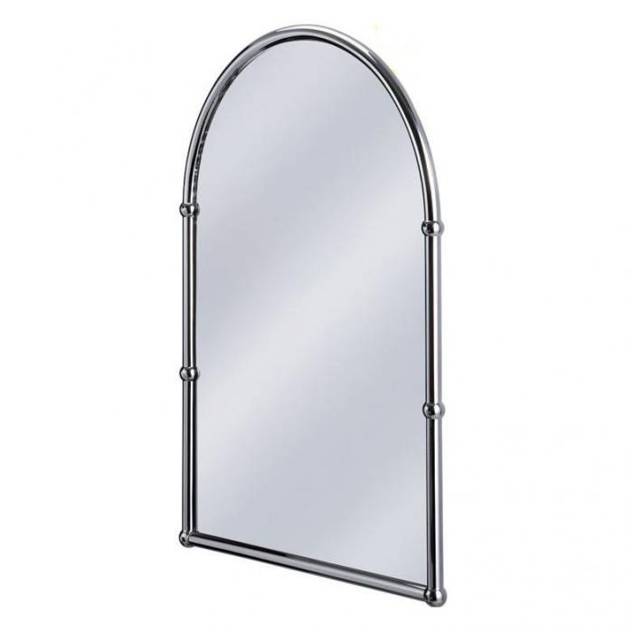 Фото сантехники Зеркало  с полукругдым верхом 50x70 см, цвет хром