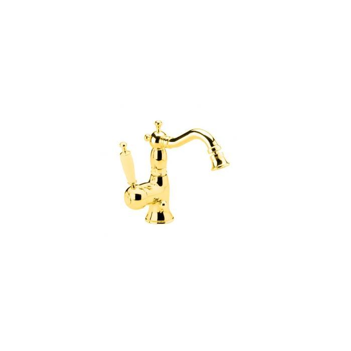Фото сантехники Oxford Смеситель для биде монокомандный, (ручка белая) цвет золото (BN.OXF-6323.BI.DO)