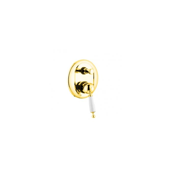 Фото сантехники Oxford Смеситель монокомандный скрытого монтажа, с девиатором, золото