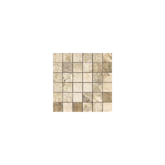 Текстура плитки Stone Mix Travertino Cream Mosaico A 30x30