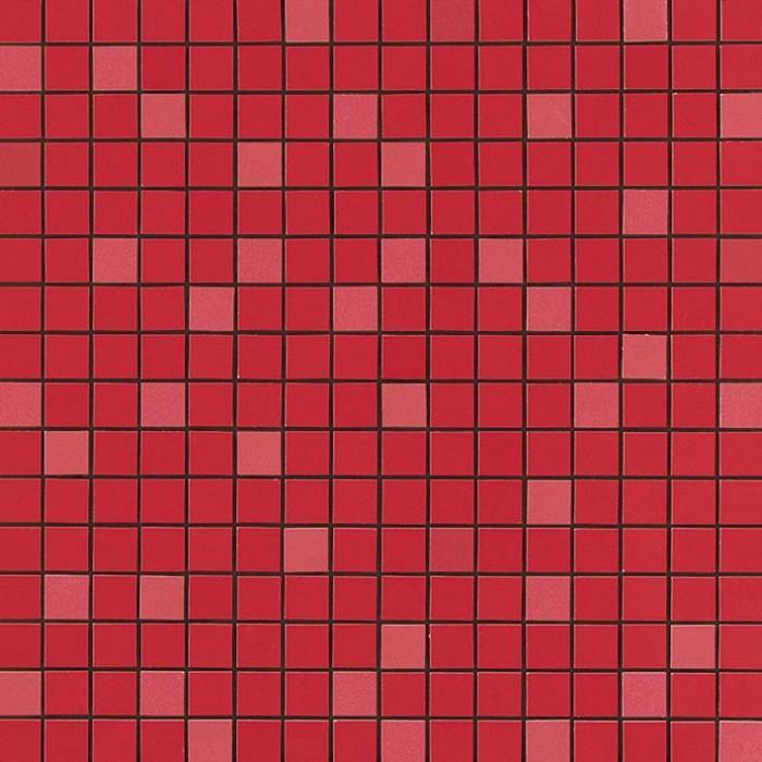 Текстура плитки Arkshade Red Mosaico Q 30,5х30,5