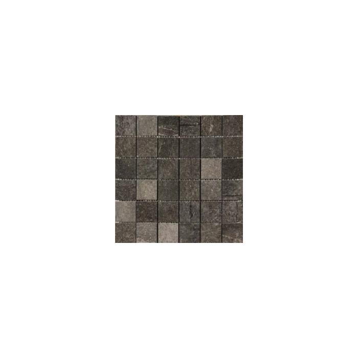 Текстура плитки Stone Mix Ardesia Black Mosaico A 30x30
