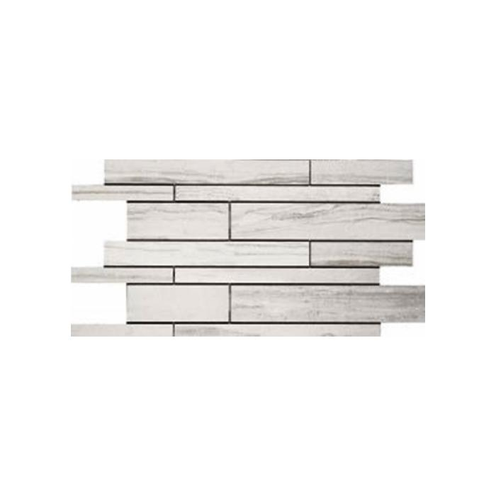 Текстура плитки Stone Mix Striato White Muretto 30x60