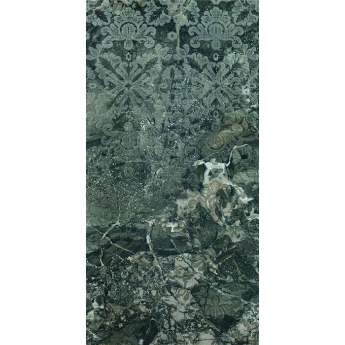 Текстура плитки Smart Decoro Leaves Ebony Lap Rett 48x96.2