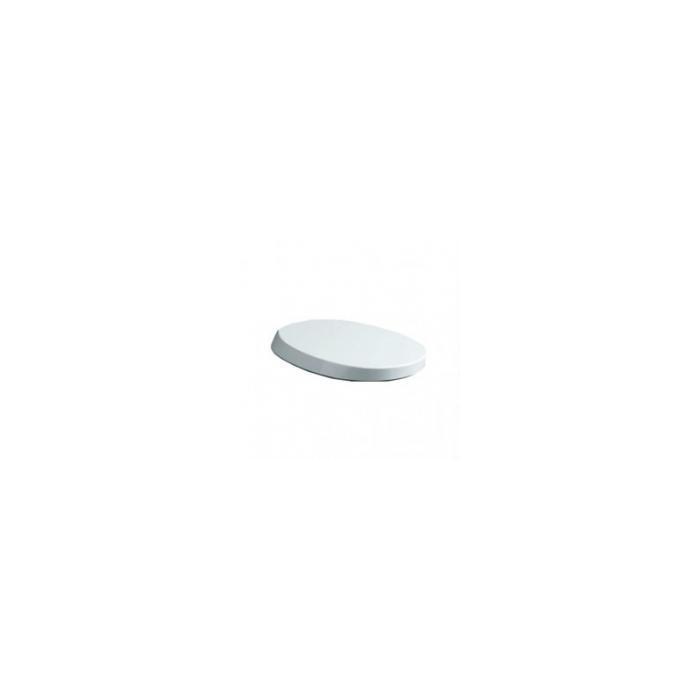 Фото сантехники Bohemia Сиденье для унитаза из терморезины SoftClose, цвет белый, петли хром