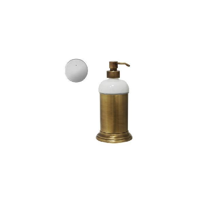 Фото сантехники Mirella Дозатор для жидкого мыла настольный, керамика/хром