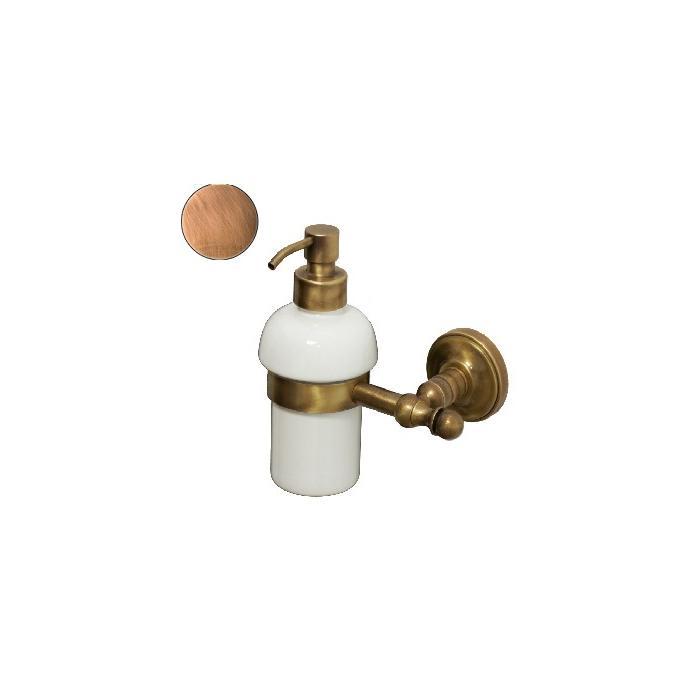 Фото сантехники Mirella Дозатор жидкого мыла настенный, керамика/медь