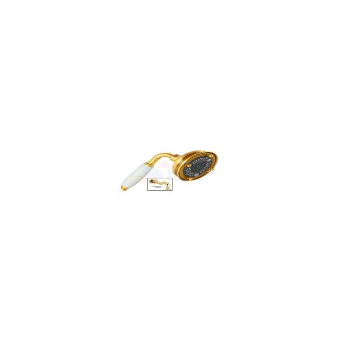 Фото сантехники Ricambi Ручной душ 3-х позиционный, керамика/золото