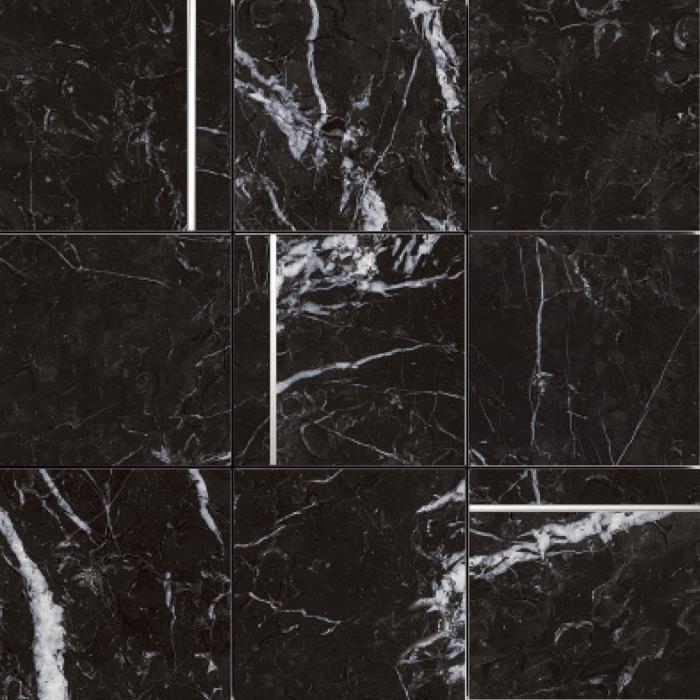 Текстура плитки D.Marquina Black/30X30/EP 30х30