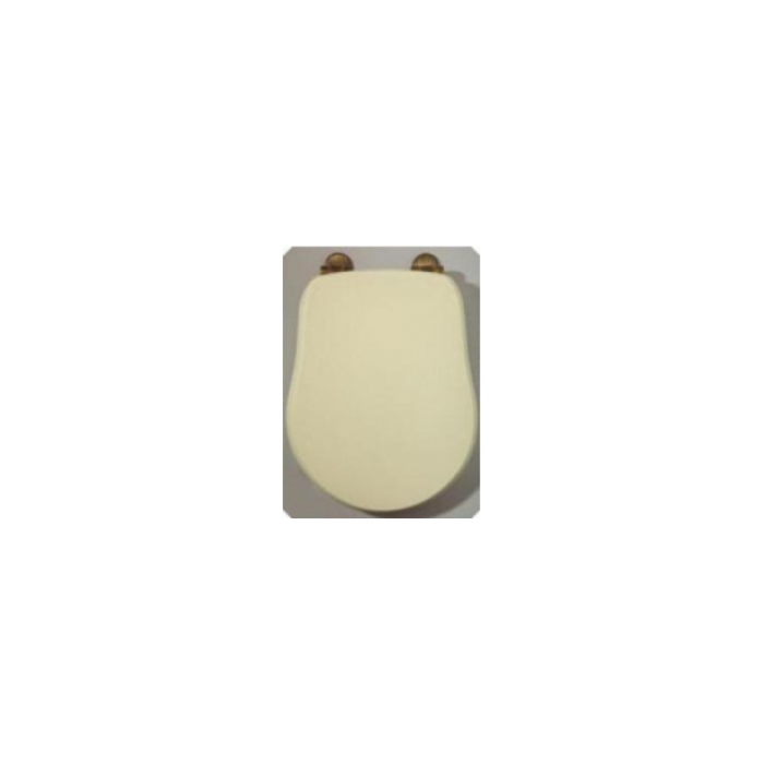 Фото сантехники Impero Крышка для унитаза с системой Microlift,цвет Decape Sabbia, петли бронза