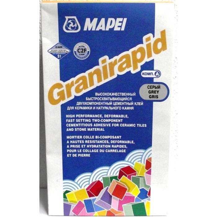 Строительная химия Granirapid Grey part A 25 kg быстросхватывающийся клей для плитки и камня серый