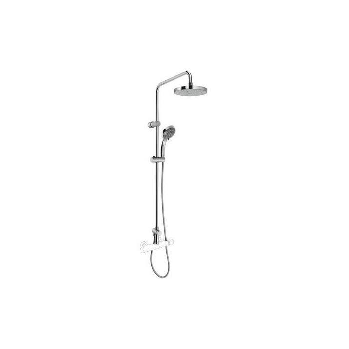 Фото сантехники Стойка с верхним и ручным душем, для установки со смесителем, цвет хром
