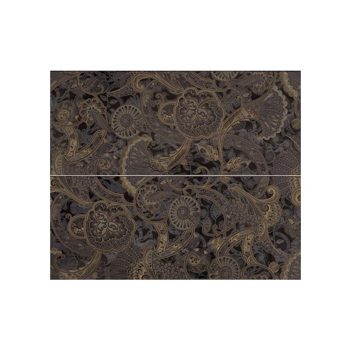 Текстура плитки Giselle Dec.Mini Marron (2pz 25х60) 50x60