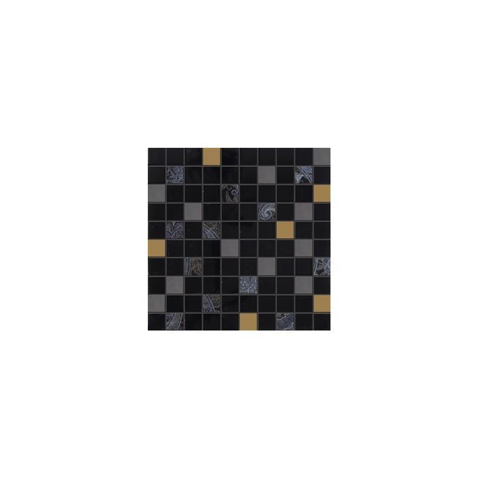 Текстура плитки Giselle Mos.Mini Nero 31.5x31.5