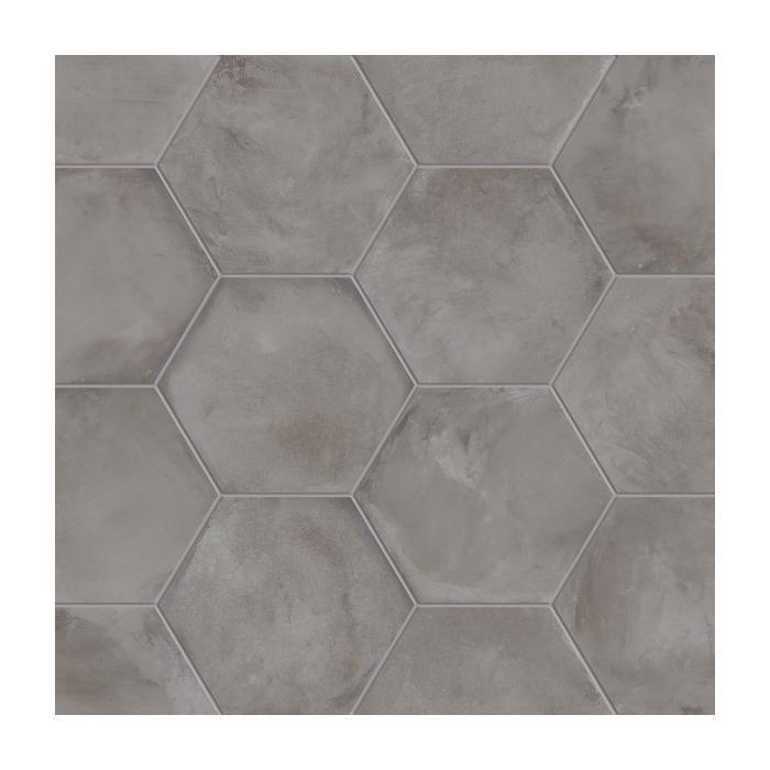 Текстура плитки Terra Antracite Esagono 25x21.6