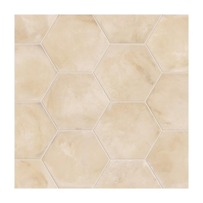 Текстура плитки Terra Avorio Esagono 25x21.6