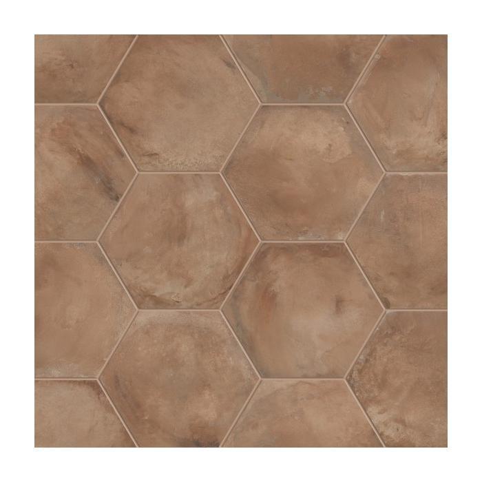 Текстура плитки Terra Rosso Esagono 25x21.6