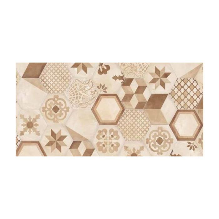 Текстура плитки Terra Mix Esagono C 25x21.6