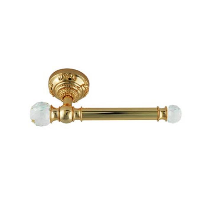 Фото сантехники Cristalia Бумагодержатель открытый, цвет золото/Swarovski