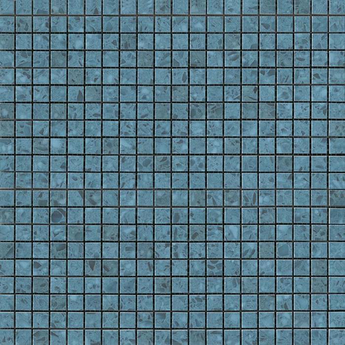 Текстура плитки Marvel Gems Terrazzo Blue Micromosaico (1.3x1.3) 30,5x30,5