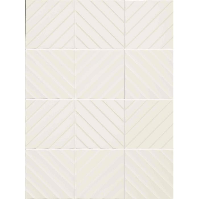 Текстура плитки 4D Diagonal White 20x20 - 2