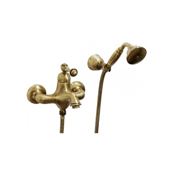 Фото сантехники Bomond Смеситель для ванны внешний с душем, цвет бронза