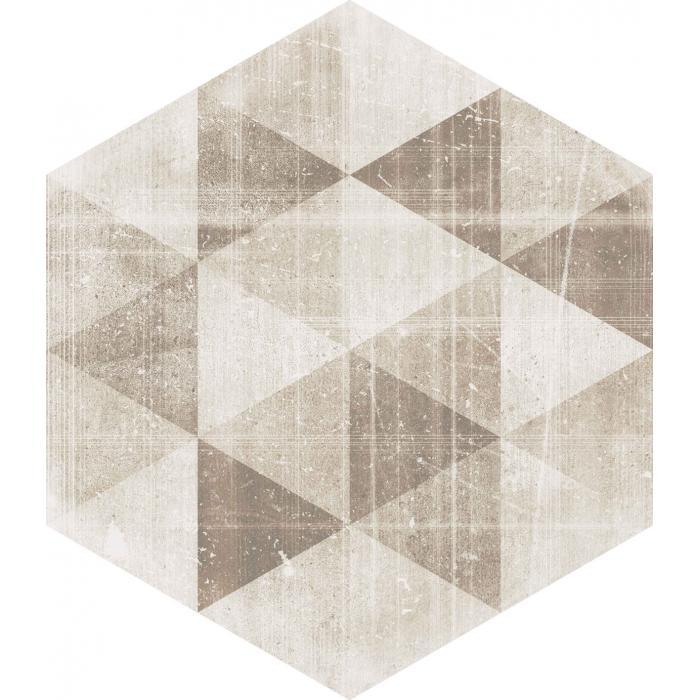 Текстура плитки Hexx Universum Motyw Crema Heksagon 26x26