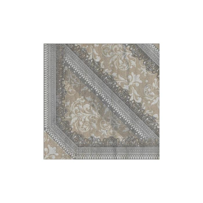 Текстура плитки V-Stone Dec.Arabesque Silver Lap Rett 47.8x47.8