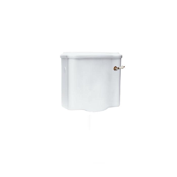 Фото сантехники Flavia Бачок подвесной низкий, д.напольного унитаза, с отв д.ручки слива сбоку, белая