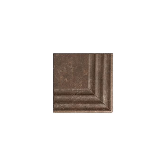 Текстура плитки Ilario Brown Stopnica Narozna 30x30