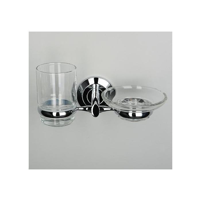 Фото сантехники Rhein Держатель стакана и мыльницы (блистер), хром - 2