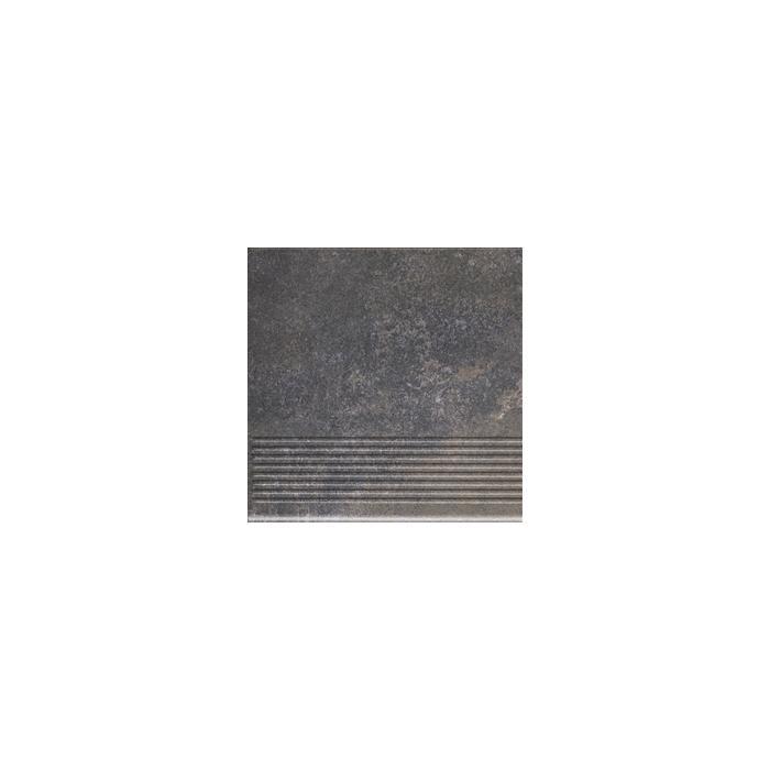 Текстура плитки Viano Antracite Stopnica 30x30