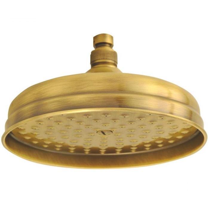 Фото сантехники Roma Верхний душ D-200 mm, цвет золото