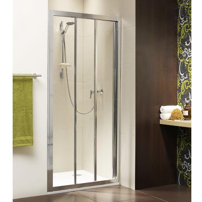 Фото сантехники Treviso Душевая дверь 880-910х1900 мм, стекло прозрачное, профиль хром