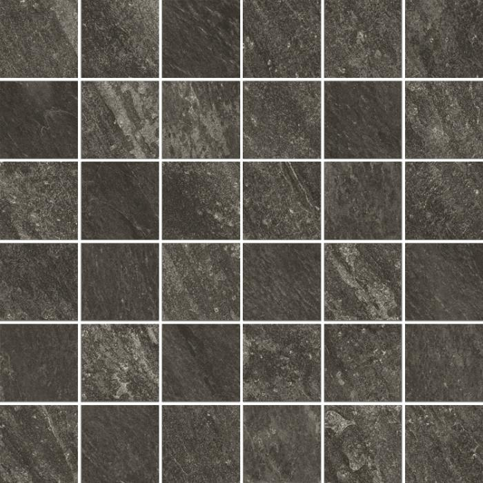 Текстура плитки Клаймб Графит Мозаика Ретт. 30x30