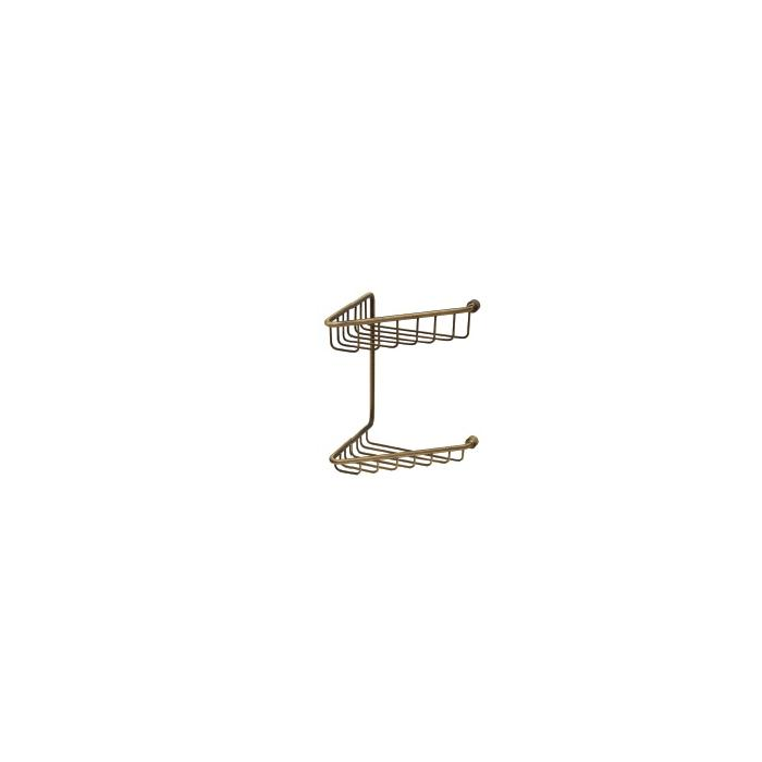 Фото сантехники Complementi Решетка угловая двойная 16x25x16см, цвет бронза