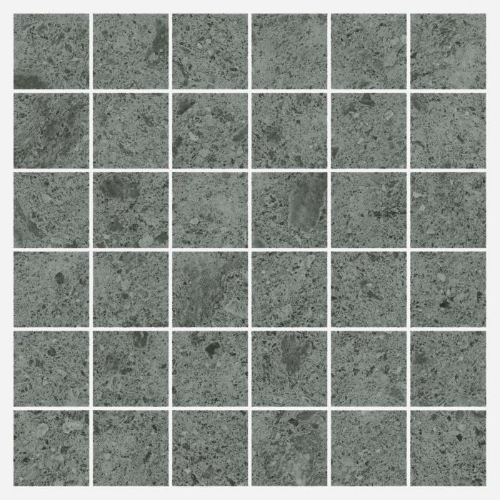 Текстура плитки Дженезис Сатурн Грей Мозаика Нат. 30x30