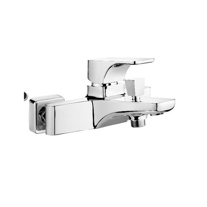 Фото сантехники HIACYNT Смеситель для ванны кор излив цвет белый-хром без душевого набора - 2