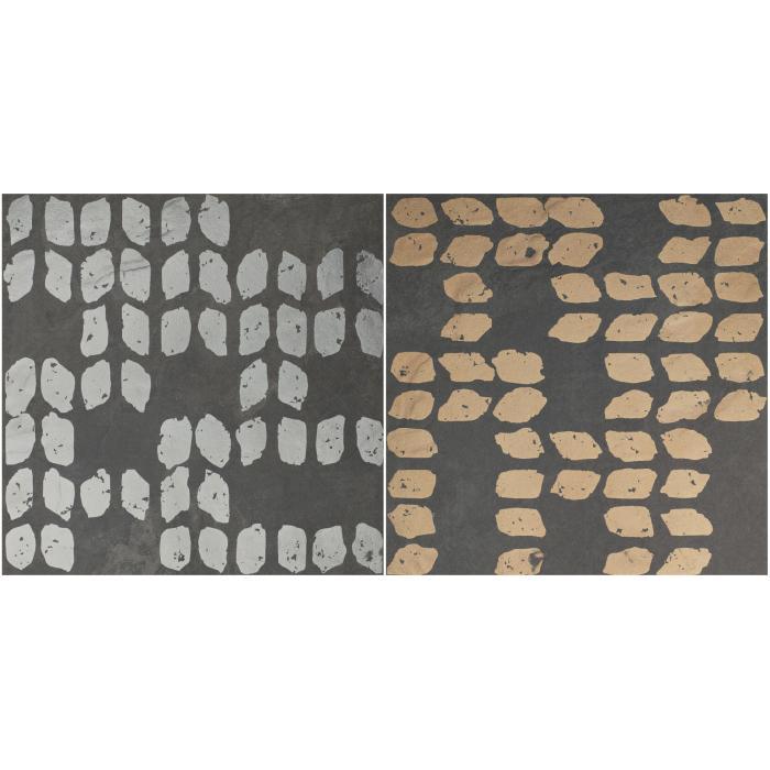 Текстура плитки Decoro Tracce3 Slate Antracite 20x20