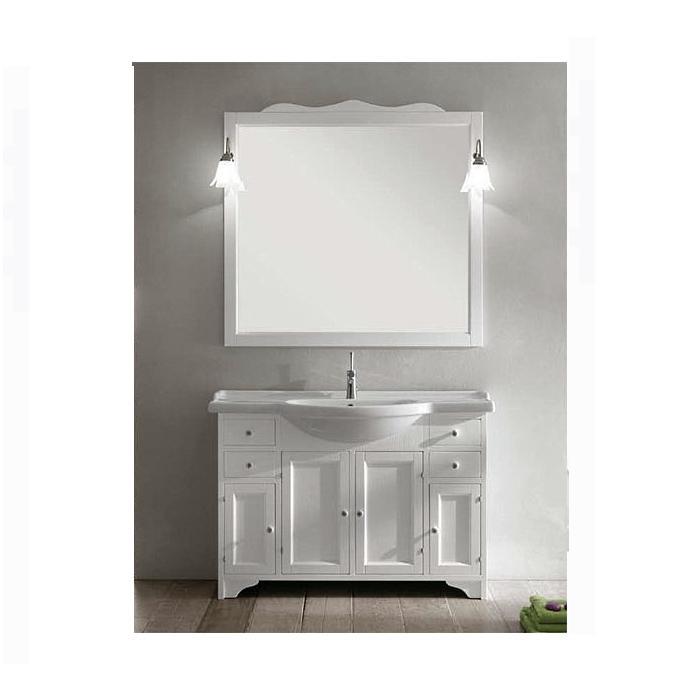 Фото сантехники Зеркало в деревянной раме 96х106х10 см,без светильников, цвет белый